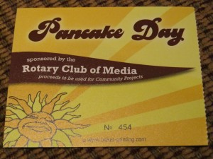 Ticket from Pancake Day